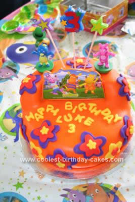 Homemade Backyardigan Third Birthday Cake