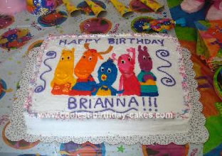 Homemade Backyardigans Birthday Cake