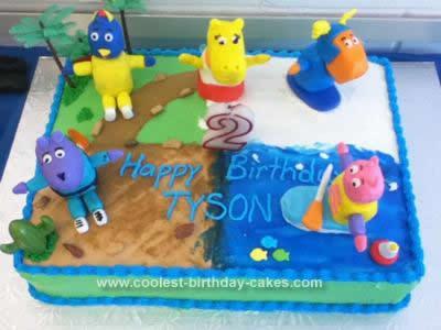 Homemade Backyardigans Race Cake