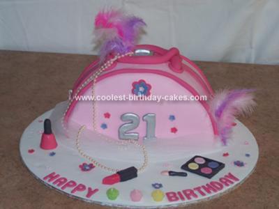 Homemade 21st  Bag Birthday Cake