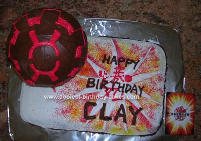 Homemade Bakugan Ball Birthday Cake