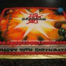 Homemade Bakugan Birthday Cakeo