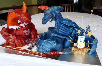 Homemade Bakugan Birthday Cake