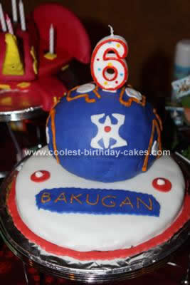 Homemade Bakugan Birthday Cakes