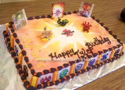 Enjoyable Cool Homemade Bakugan Cake Funny Birthday Cards Online Fluifree Goldxyz