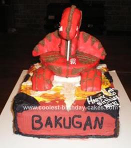 Homemade Bakugan Cake