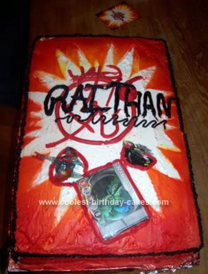 Homemade Bakugan Gate Card Cake