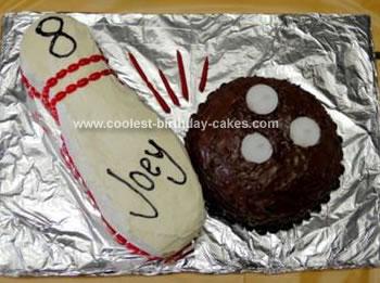 Homemade Ball And Pin Cake