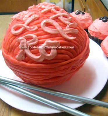 Homemade Ball Of Yarn Cake