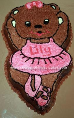 Homemade Ballerina Bear Cake