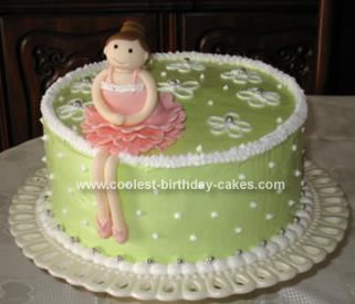 Homemade Ballerina Birthday Cake