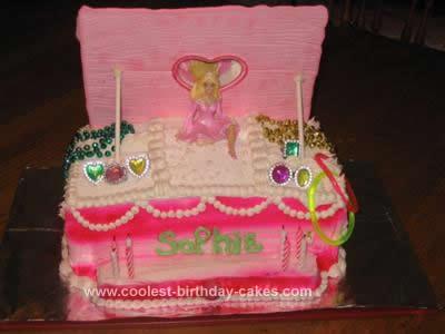 Homemade Ballerina Jewelry Box Cake