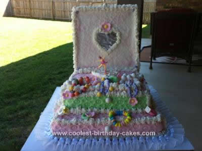 Homemade Ballerina Jewelry Box Cake