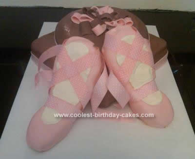 Homemade  Ballet Birthday Cake