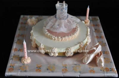 Homemade Ballet Cake Design