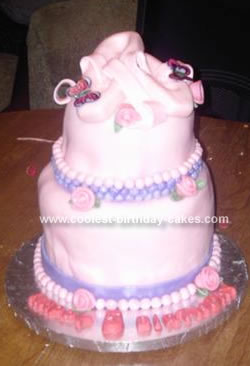 Homemade Ballet Shoes Cake