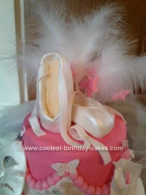 Homemade Ballet Shoes Cake Design