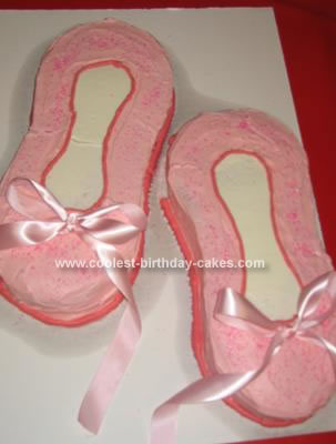 Homemade Ballet Slippers Birthday Cake