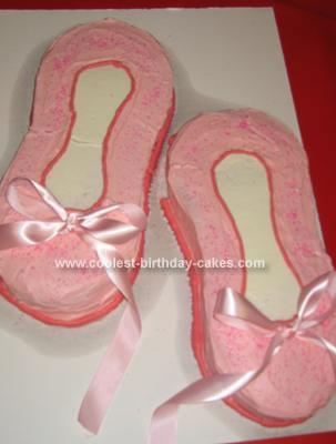 Homemade Ballet Slippers Birthday Cake