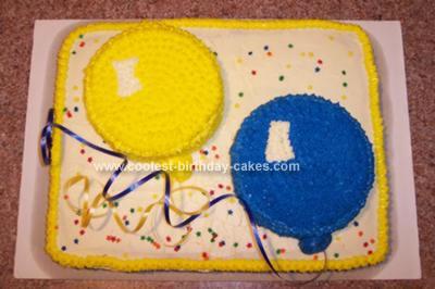 Homemade Balloon Cake