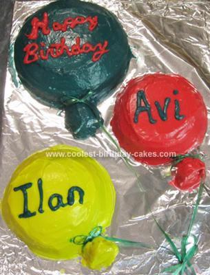 Homemade Balloons Cake
