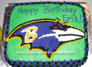 Marvelous Coolest Baltimore Ravens Cake Birthday Cards Printable Opercafe Filternl