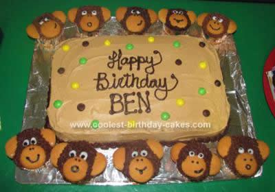 Homemade Banana Monkey Face Cupcakes