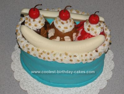 Homemade Banana Split Cake