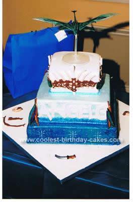 Homemade  Banshee Avatar Cake
