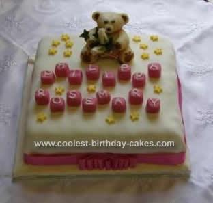 Homemade Baptism Cake