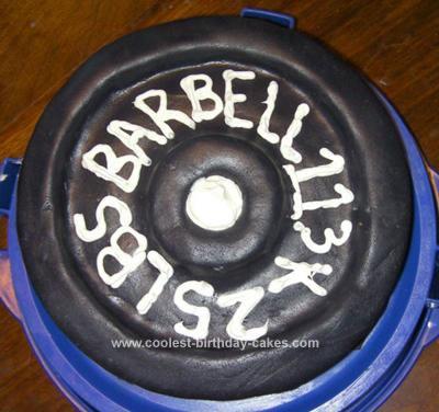 Homemade Barbell Cake