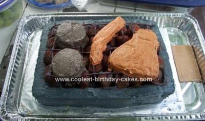 Homemade Barbeque Cake