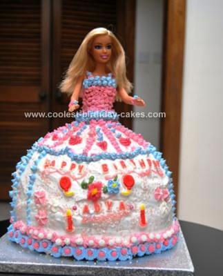 Homemade Barbie 9th Birthday Cake