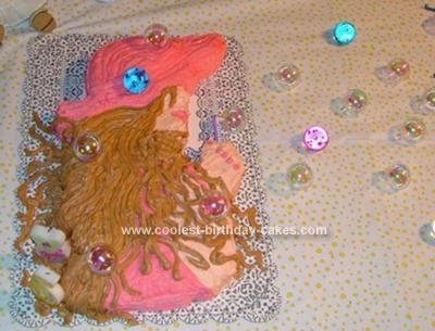 Homemade Barbie As Rapunzel Cake