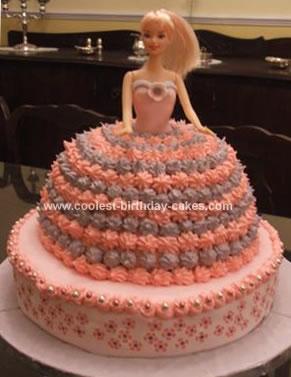 Homemade Barbie Ball Cake
