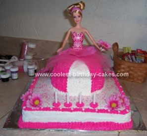 Fantastic Cool Homemade Hot Pink Barbie Birthday Cake Funny Birthday Cards Online Overcheapnameinfo