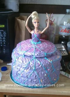 Fantastic Sweet Homemade Barbie Birthday Cake For A 7Th Birthday Personalised Birthday Cards Epsylily Jamesorg