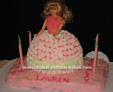 Barbie Marshmallow Cake
