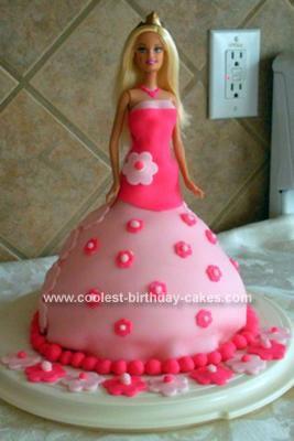 Homemade Barbie Cake