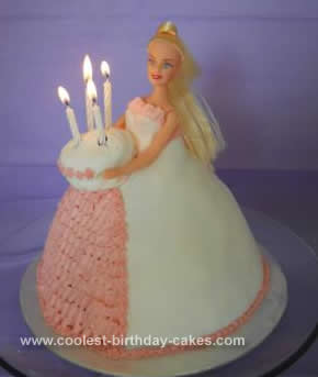 Outstanding Cool Homemade Barbie Doll 4Th Birthday Cake Funny Birthday Cards Online Sheoxdamsfinfo