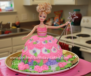 Cute Homemade Barbie Doll Birthday Cake Design
