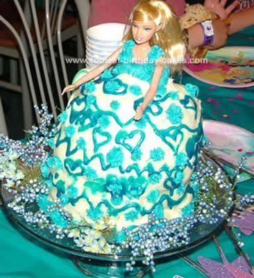 Easy Buttercream Barbie Doll Birthday Cake Idea