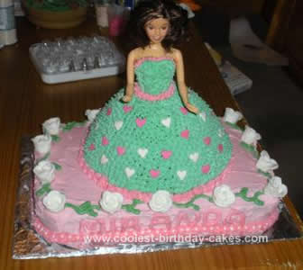 Outstanding Cool Homemade Barbie Doll Birthday Cake Idea With Candy Roses Birthday Cards Printable Opercafe Filternl