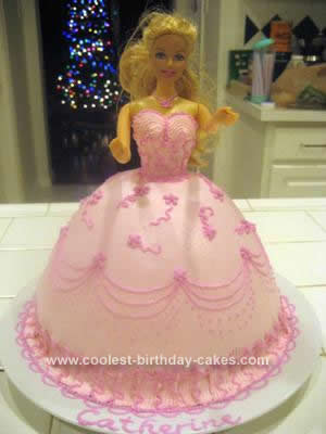 Pleasant Pretty In Pink Barbie Doll Birthday Cake Idea Birthday Cards Printable Opercafe Filternl