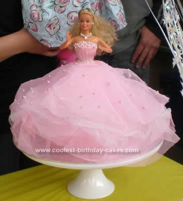Homemade Barbie Doll Birthday Cake Idea