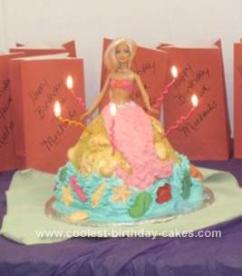 Homemade Barbie Mermaid 5th Birthday Cake