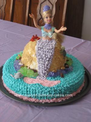 Homemade Barbie Mermaid Cake