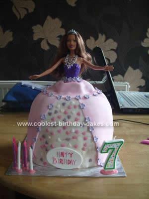 Homemade Barbie Princess Birthday Cake