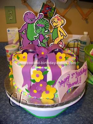 Coolest Barney And Friends Birthday Cake