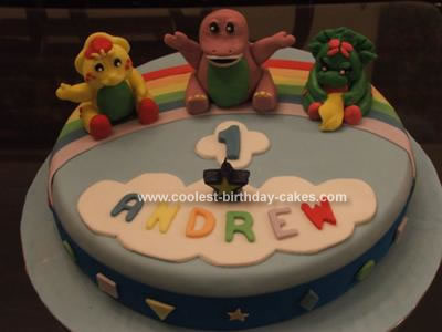 Homemade  Barney and Friends Cake